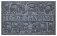 UMEFA Umefa Deurmat I Love Camping 61x40cm Grijs