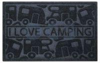 UMEFA Umefa Deurmat I Love Camping 61x40cm Zwart