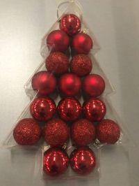 TIMSTOR Timstor Kerstballen 5cm Rood