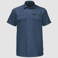 JACK WOLFSKIN Jack Wolfskin Shirt Thompson S Men Ocean Wave Chec