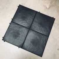 Tegel Effen 384x384mm Zwart