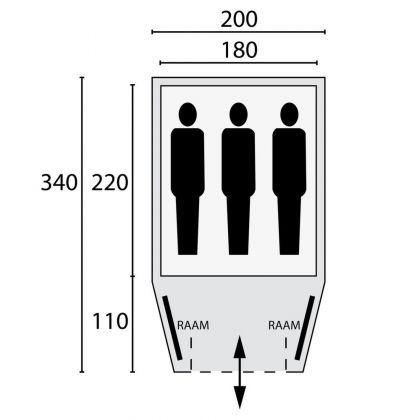 Bardani Tent Cortina 180 Be/anthr Rsc