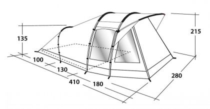 Outwell Tent Woodville 4 Privilege
