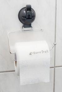 EUROTRAIL Eurotrail Toiletrolhouder Met Zuignap Zwart Euro T