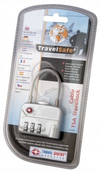 TRAVELSAFE Travelsafe Travellock Tsa Number Code With Cable